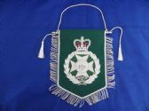 ROYAL GREEN JACKETS ( RGJ ) BULLION WIRE EMROIDERED PENNANT